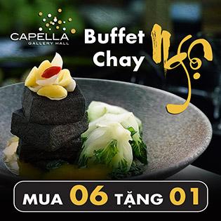 """Buffet Chay """"Ngộ"""" - Đặc Sắc Với Hơn 75 Món Chay Mừng Vu Lan Tại Capella Gallery Hall - Không Phụ Thu Rằm Và Cuối Tuần"""