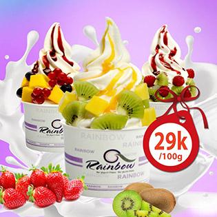 Hệ Thống 12 CN Rainbow Yogurt - Kem Sữa Chua Tự Chọn Hot Nhất - Áp Dụng Cả Cuối Tuần