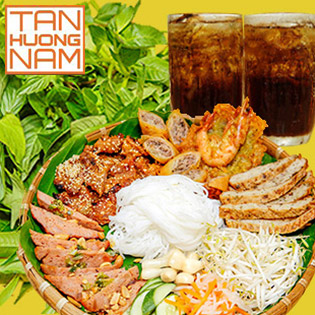 Combo Nem Nướng Thập Cẩm Đặc Biệt + Rau Rừng + 02 Sâm Lạnh Nhà Nấu Cho 02 Người - Tân Hương Nam