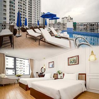 Ruby Light Hotel 3,5* 2N1Đ, Gồm Ăn Sáng Buffet, Hồ Bơi Miễn Phí - Cho 2 Người