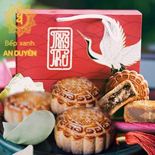 Hộp 02 Bánh Trung Thu Chay Cao Cấp An Duyên 04 Hương Vị Tự Nhiên Tốt Cho Sức Khỏe, Giao Hàng Tận Nơi