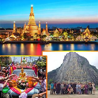 Tour Campuchia – Thái Lan  6N5Đ – Phnom Penh – Bangkok – Pattaya - Dịch Vụ Cao Cấp 4 Sao  – Tặng 1 Show Alcazar  + Buffet Tại Nhà Tỷ Phú Tại Pattaya