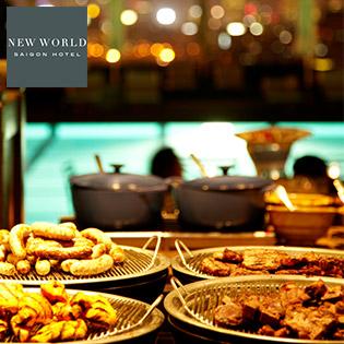 New World Saigon Hotel 5 Sao - Buffet BBQ Hồ Bơi - Bia Tươi Thỏa Thích Và Vé Hồ Bơi