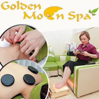 60 Phút Massage Cổ Vai Gáy Đả Thông Kinh Lạc Tặng 1 Buổi Massage Chân Và Đá Muối Tại Golden Moon Spa