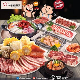 Buffet Nướng Lẩu Bàn Đá Chuẩn Hàn Quốc Tại Dolpan Sam