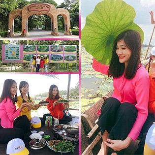 Tour Đồng Tháp 1 Ngày - KDL Đồng Sen – Di Tích Gò Tháp - Khởi Hành Chủ Nhật Hàng Tuần