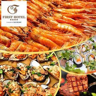 Buffet Trưa Đệ Nhất Trên 60 Món Việt, Á, Âu - Miễn Phí Nước Uống + Kem Tươi