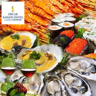 Buffet Tối T6, 7 & CN Hải Sản, Nướng & Lẩu - Free Rượu Vang Sang Trọng Tại Oscar Saigon Hotel 4* - Phố Đi Bộ Nguyễn Huệ Đẹp Nhất VN
