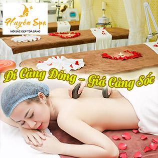 Độc Quyền 16 Bước Massage Body Đá Nóng/ Foot Phục Hồi Năng Lượng + Đắp Nạ Thiên Nhiên Trắng Hồng Da -  Huyền Spa