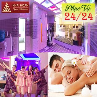 DEAL HOT 5* Buffet VIP 12 Dịch Vụ Tại Thiên Đường Massage & Spa Khải Hoàn - Duy Nhất VN - Uy Tín Trên 20 Năm, SL Có Hạn!