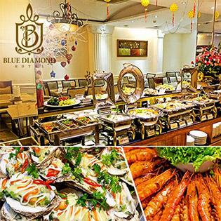 Áp Dụng Giáng Sinh, Tết - Buffet Trưa Trên 40 Món Hấp Dẫn Tại Khách Sạn Blue Diamond 3*