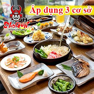 Buffet 68+ Món Ngon Nhật Bản - Hệ Thống Shogun Hà Nội