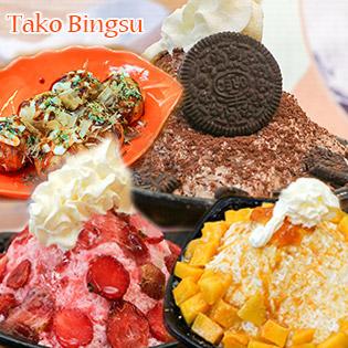 Combo Bingsu Lớn + 06 Bánh Takoyaki + Xúc Xích Bạch Tuộc + 2 Pepsi Cho 02 Người – Tako Bingsu