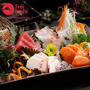 Áp Dụng Lễ, Tết - Fuji Sushi - Buffet Sashimi, Sushi Và Món Nhật Hơn 30 Món - Đã Bao Gồm Nước