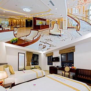 Eden Hotel 5* Đà Nẵng - Phòng Deluxe - Bao Gồm Đón Sân Bay - Bữa Sáng Buffet - Free Trà Chiều - 01 Bữa Ăn Trưa Hoặc Tối Dành Cho 2 Người Lớn và 2 Trẻ Dưới 6 Tuổi - Free Gym + Bể Bơi + Tặng 02 Voucher Massage Chân 30 Phút