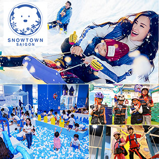 Khu Tuyết Snow Town Sài Gòn – Vé Trọn Gói Vui Chơi Trượt Tuyết + Selfie Tại Khu Vui Chơi Hot Nhất Sài Gòn