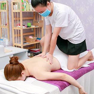(105') Combo Thư Giãn Cao Cấp Massage Body Tinh Dầu Đá Nóng + Chăm Sóc Da Mặt + Đắp Mặt Nạ Tại Ruby Spa