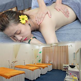Siêu Combo: Massage Body Đá Nóng + Chăm Sóc Da Mặt + Ngâm Chân Thuốc Bắc + Trị Liệu Cổ Vai Gáy - Camellia Spa