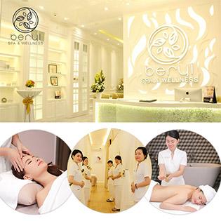 Beryl Spa & Wellness Đẳng Cấp 5 Sao – (60') Massage Body Cao Cấp - Aromatherapy Tặng Kèm Xông Hơi/ Ngâm Chân Thảo Dược Miễn Phí