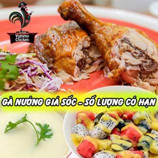 Áp Dụng Lễ - Góc Tư Gà Nướng Bồ Đào Nha + Súp/ Salad - Yummy Chicken