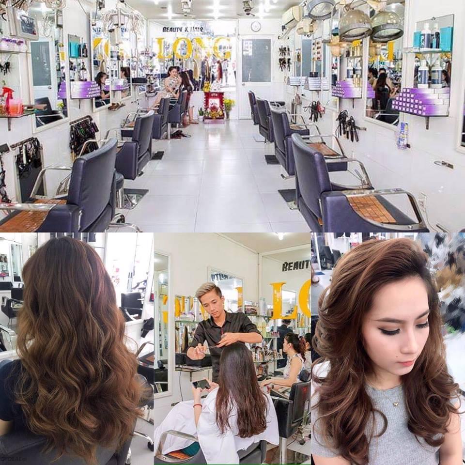 Hair Salon Long - Trọn Gói Làm Tóc Cao Cấp: Uốn/ Duỗi/ Nhuộm/ Bấm - Tặng 1 Suất Phủ Bóng Nano