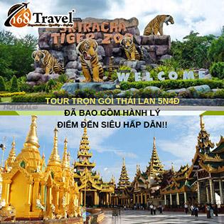 Tour Thái Lan 5N4Đ - Giá Cực Sốc - Bangkok - Pattaya - Sky Buffet 86 Tầng - Trại Hổ Tiger Zoo - Trải Nghiệm Thú Vị Du Ngoạn Sông Chao Phraya Ngắm Cá Bơi Lội - Thỏa Thích Shopping Platinum Malls - Bao Gồm Hành Lý