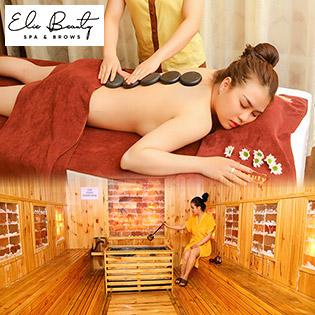 Massage Body + Xông Hơi Đá Muối, Tia Hồng Ngoại Không Giới Hạn Tại Elie Beauty Spa