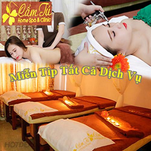 Miễn Tip 3 Combo VIP Độc Quyền Cao Cấp Chăm Sóc Toàn Diện Mặt - Body -Quyến Rũ Trên Từng Centimet Tại Cẩm Tú Home Spa