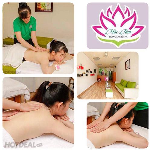(60') Liệu Trình Thư Giãn, Giảm Stress Với Dịch Vụ Massage Body Tinh Dầu Toàn Thân Tại Mộc Tâm Skincare & Spa