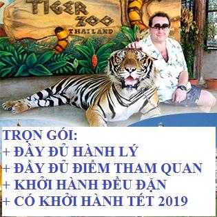 Tour Trọn Gói Thái Lan 5N4Đ Cực Hot – Tặng BBQ Hải Sản - Lẩu Suki Soup Buffet Nhà Hàng Xoay 86 Tầng - Trại Hổ Tiger Zoo - Tòa Nhà Tỷ Phú – Có Khởi Hành Tết