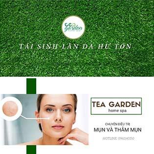 Điều Trị Mụn Tận Gốc/ Cấy Tảo Xoắn Tươi Cho Da Mặt Trắng Hồng Mịn Màng Tại Tea Garden Home Spa