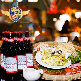 Combo Hải Sản, Sushi + 6 Bia Tại RedLine Club Hot Nhất Sài Gòn - Không Phụ Thu Cuối Tuần
