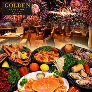 Buffet Chào Đón Năm Mới Ngắm Pháo Hoa Đẹp Nhất Sài Gòn Tại Tầng 16 Golden Hotel 4*