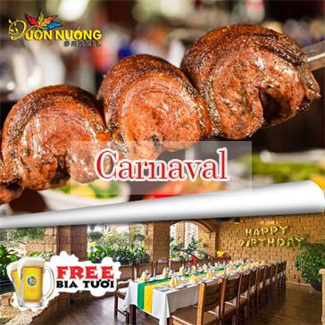 Buffet Vườn Nướng Brazil Menu 299K - Tặng Bia Tươi Kozel/ Coca Tại Carnaval 145 Trung Hòa