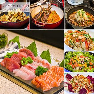 Áp Dụng Lễ - New World Saigon Hotel 5 Sao - Buffet Trưa Cao Cấp Tại Nhà Hàng Parkview - Bao Gồm Nước