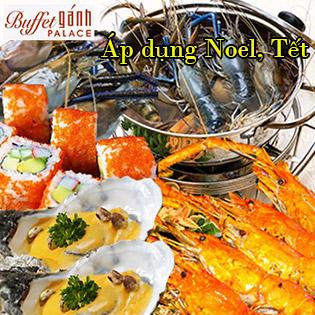 Áp Dụng Giáng Sinh, Tết - Buffet Trưa Gánh Palace 4* - Hải Sản 3 Miền Tại Phố Đi Bộ Nguyễn Huệ