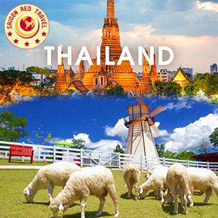 Tour Thái Lan Đặc Biệt 5N4Đ - Bang Kok – Pattaya - Sky Buffet 86 Tầng - Chùa Phật Vàng - Biển Jomtien - Nông Trại Cừu - Tặng Buffet Lẩu Suki – Tặng Massage Thái