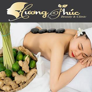(100') Massage Foot + Body + Xông Hơi + Ngâm Chân + Đắp Mặt Nạ - Spa Hương Phúc