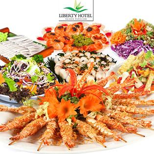 Áp Dụng Lễ, Tết - Buffet Trưa 70 Món Hải Sản Nướng, Miễn Phí Nước Uống Tại Liberty Saigon Parkview Hotel
