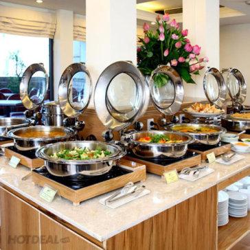 ÁP DỤNG TẾT - Buffet Chay Buổi Trưa Hơn 40 Món, Miễn Phí Nước Uống Tại Nhà Hàng Cỏ Nội - Bông Sen Hotel Annex