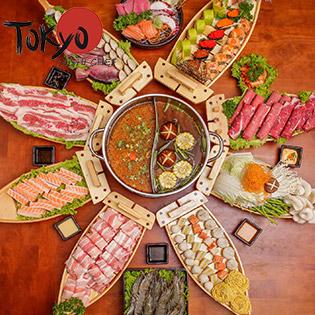 Deal Hot - Buffet Thuyền Khổng Lồ - Sashimi, Sushi, Lẩu Bò Mỹ, Hải Sản Nhật Tại Tokyo Sushi