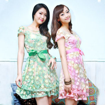 Đầm Voan Ren Hoa Mai Cao Cấp