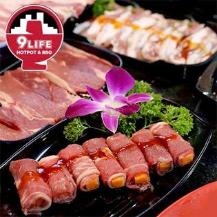 Hệ Thống 9Life Hotpot BBQ - Buffet Lẩu Gần 30 Món Thịt Hải Sản Không Giới Hạn