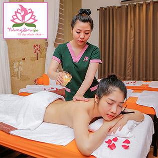 Miễn Tip - (120') Massage Body Nến + Foot + Xông Hơi + Ngâm Chân + Đắp Mắt + Nằm Gối Nóng Thảo Dược + Ủ Hộp Đá Muối/ Chăm Sóc Da Mặt - Nàng Sen Spa