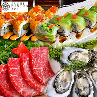 Buffet Trưa Sashimi, BBQ Bò Mỹ & Sushi Chuẩn Nhật Bản Tại Sushi Dining AOI