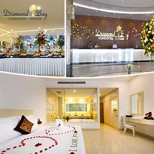Gói Nghỉ Dưỡng Diamond Bay Condotel Resort 5* Nha Trang 3N2Đ Căn Hộ Đẳng Cấp Dành Cho 2 Người – Tặng 01 Bữa Tối Dành Cho 2 Người