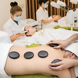 Buffet Spa – Massage Thuỵ Điển Đá Nóng Kết Hợp Bấm Huyệt Shiatsu/ Thanh Tẩy Làn Da Tại Lamode Beauté Home Spa