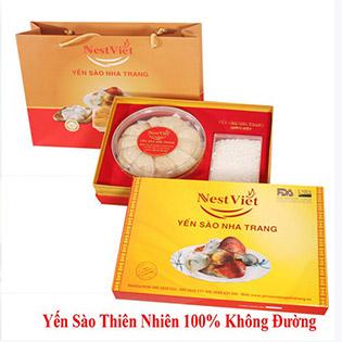 Đón Xuân Tới - Biếu Quà Sang – 100gram Yến Sào Cao Cấp Nha Trang NestViet, Tặng Đường Phèn