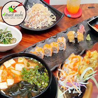 Ăn Sushi Uống Soda Giá Cực Đã – Tại Hệ Thống Street Sushi
