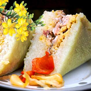 01 Cặp Bánh Chưng Bắc Thương Hiệu Hà Nội 1Kg/ Bánh